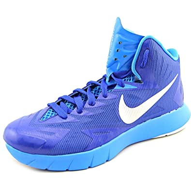 89254f96c59d Nike Mens Lunar Hyperquickness TB Basketball Shoes-Royal Blue Silver-11.5