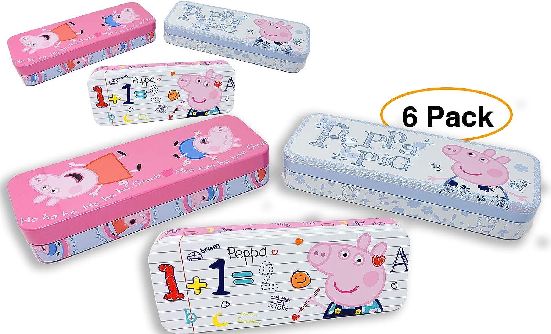 Peppa Pig - Estuche para lápices (6 unidades), diseño de cerdito de Peppa: Amazon.es: Juguetes y juegos