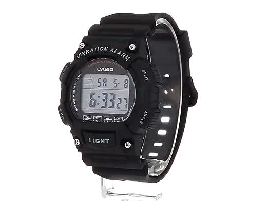 Reloj Casio W-736H-1A Unisex con cuarzo japonés con correa de resina y Vibration Alarm: Amazon.es: Relojes