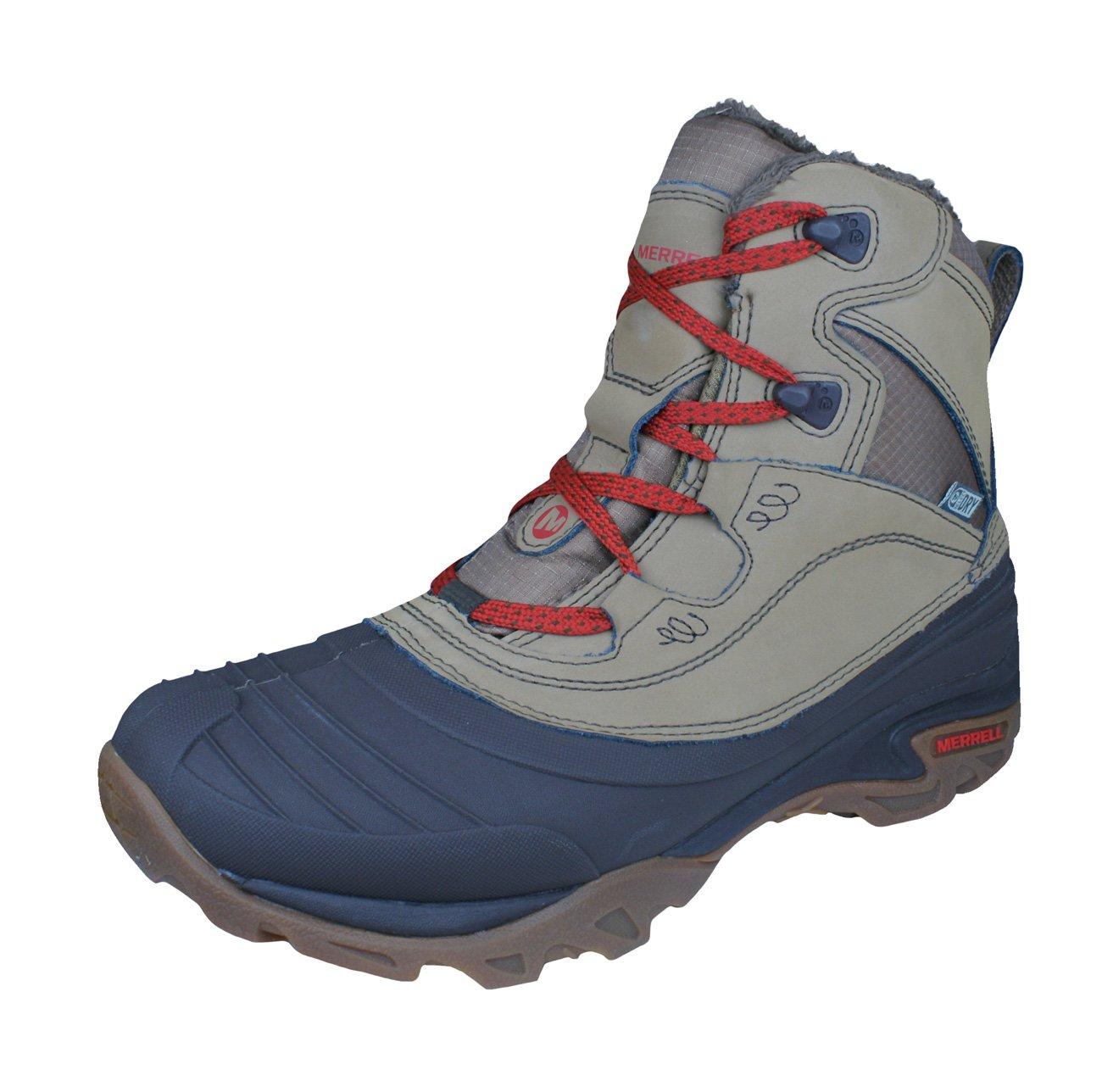 Merrell Snowbound Mid Waterproof Womens Boots - Black-Tan-6