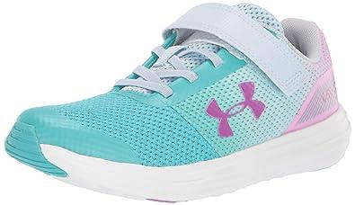 6b0f403a Under Armour Girls' Pre School Surge RN Prism Adjustable Closure Sneaker  Tempest, Breathtaking Blue