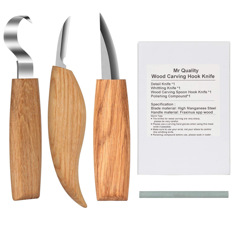 Gubias para tallar madera 3 piezas Cinceles para Madera ...