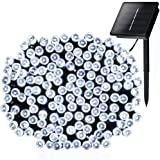 Solar Outdoor Lights 115ft 300 LED Fairy String Lights, Ambiance lighting for Outdoor, Patio, Lawn, Landscape, Fairy Garden, Home, Wedding, Holiday, Christmas Party, Xmas Tree,waterproof (Cool White)