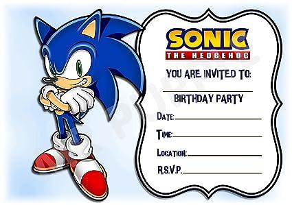 Sonic el erizo cumpleaños fiesta invita a - diseño de ...