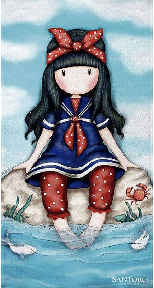 Textil Tarragó Gorjuss Toalla de Playa, Algodón, Azul, 75 x 150 cm ...