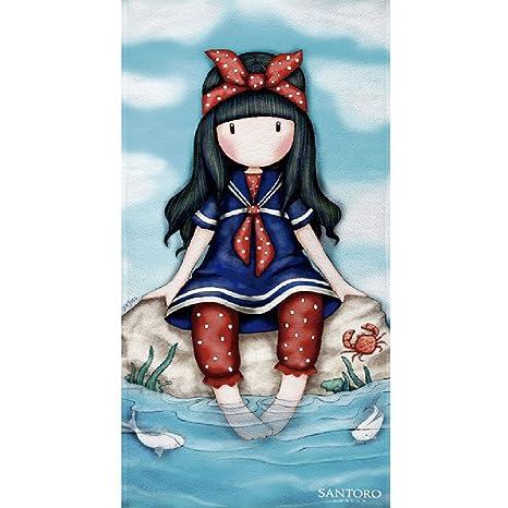 Textil Tarragó Gorjuss Toalla de Playa Algodón, Azul 75 x 150 cm