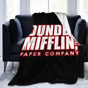 The Office Dunder Mifflin Ultra Soft Flannel Fleece Blanket Throw Blanket Season Light Weight Cozy Plush Blankets