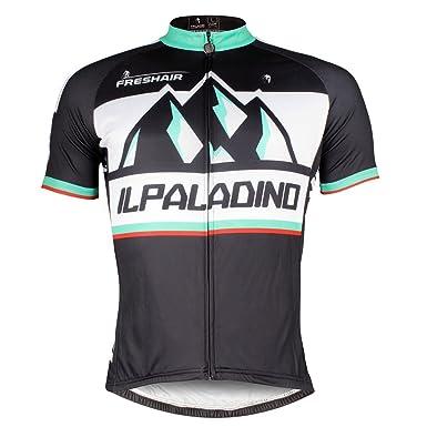 ILPALADINO Men s Cycling Jersey Short Sleeve Biking Shirts Mountains  Pattern (XXS 280dea968