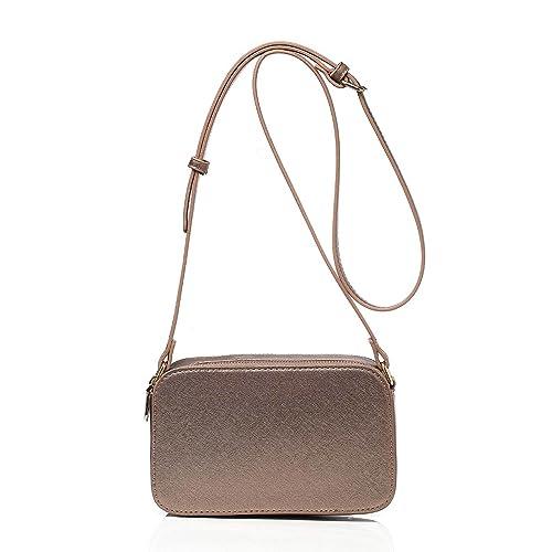 DedeDiva Small Crossbody Bag Clutch Purse Shoulder Bag Evening Bag for Women  Double Zip Pocket with