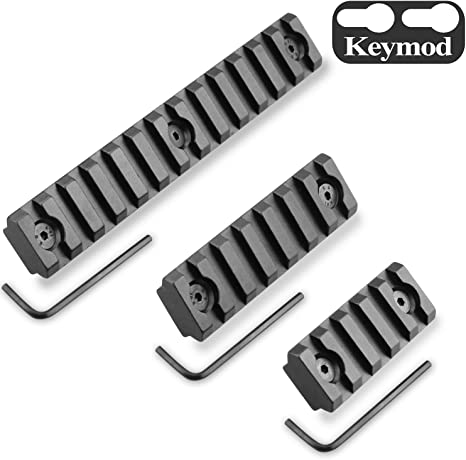 TRIROCK 3 Slot Picatinny Rail Section for Keymod Handguard Mount System