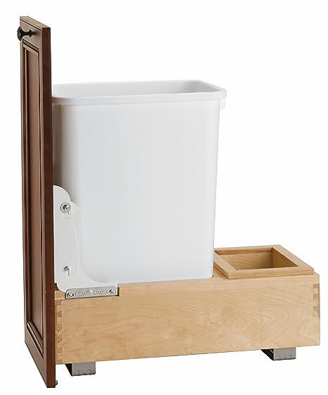 Amazon.com: Rev-A-Shelf contenedor de residuos de 35 cuartos ...