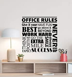 amazon com atopdecals vinyl stickers dream big little one walloffice rules wall decal motivational poster office sign teamwork success quote vinyl sticker business decor work