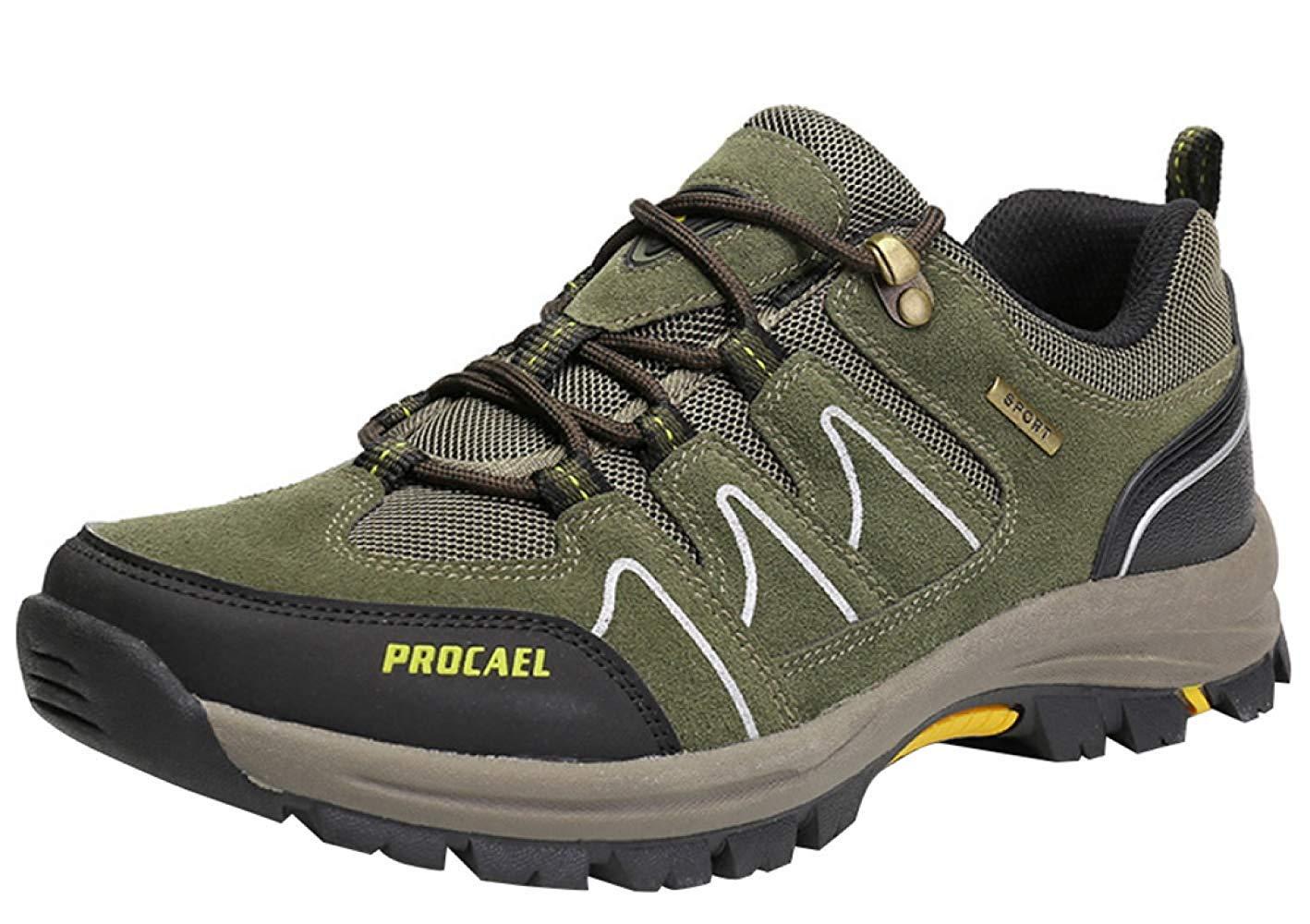 HhGold Männer Wanderschuhe Stiefel Leder Wanderschuhe Turnschuhe Für Outdoor Trekking Training Beiläufige Arbeit (Farbe : 6, Größe : 43EU)
