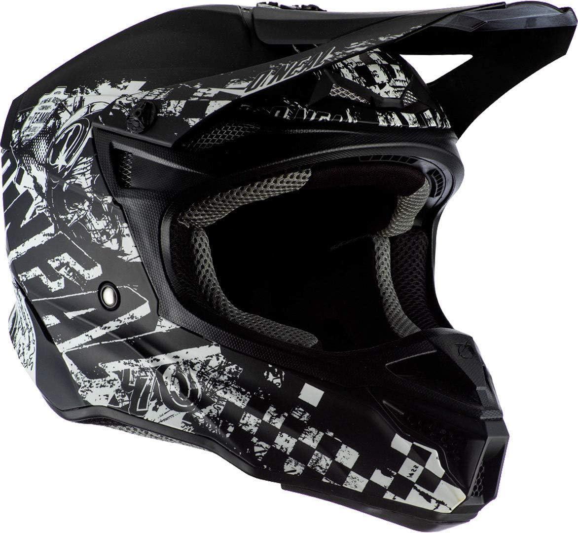 53//54cm 5SRS Polyacrylite Helmet RIDER black//white XS