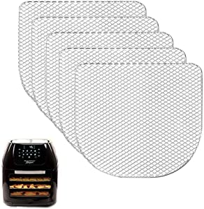 5 Pieces Dehydrator Racks Compatible for 6QT Power Air Fryer Oven,Chefman, Caynel, Air Flow Racks,Dehydrate Fruits and Meats,Air Fryer Oven Accessories