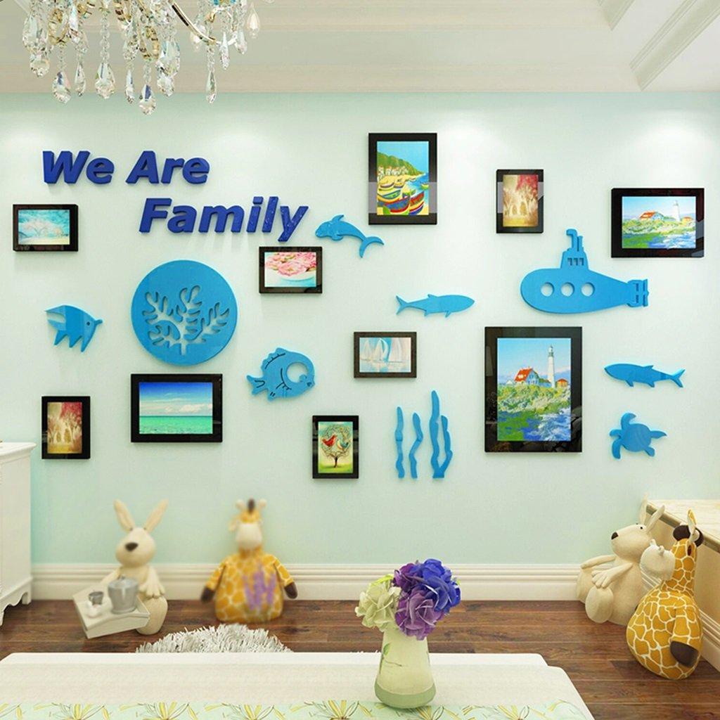 DWW-Wandsticker Unterwasser Welt Wandaufkleber Acryl Bilderrahmen 3d Schlafzimmer Kinderzimmer Aufkleber Nacht Dekoration Wandsticker ( größe : S )