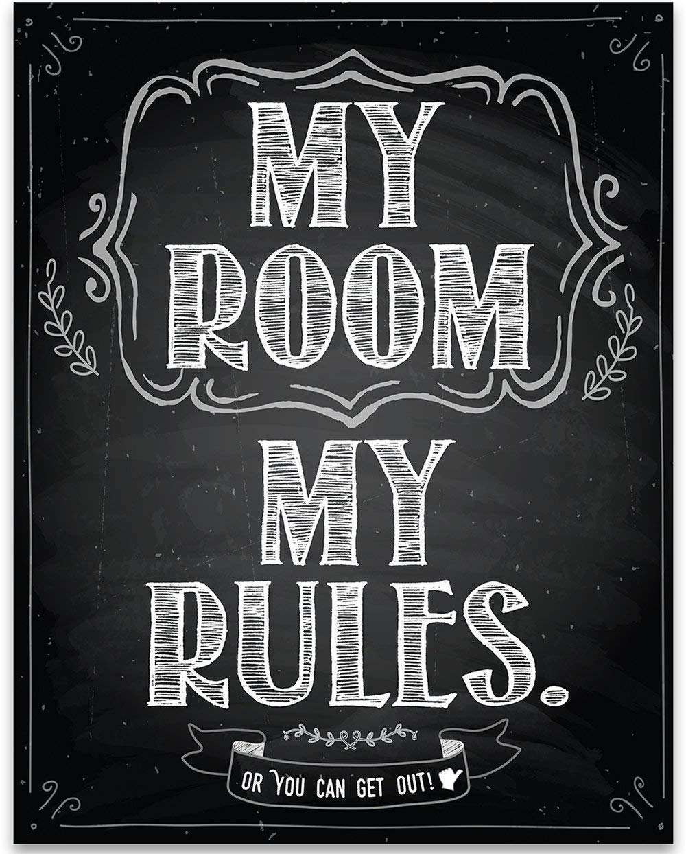 Amazon Com My Room My Rules 11x14 Unframed Cool Art Print Cute Decor For Teen Room Stuff For Dorm Rooms Cheap Gift Under 15 Handmade
