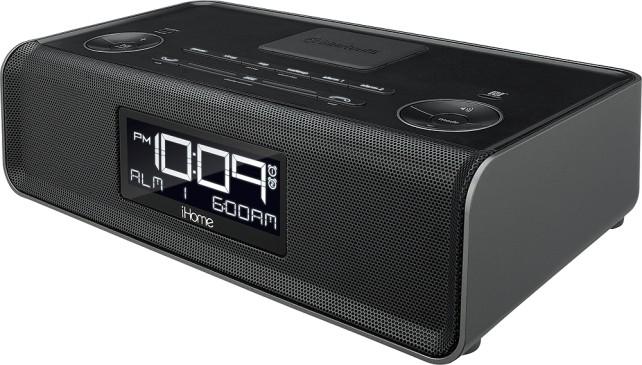 iHome Bluetooth Stereo Dual Alarm Clock Radio Black IBN43BC - Best Buy