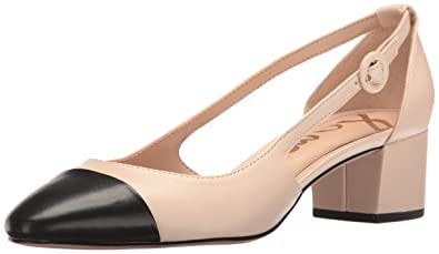 bee5dcff4e3 Sam Edelman Women s Summer Sand Black Leah Cutout Block Heel - 6 B(M