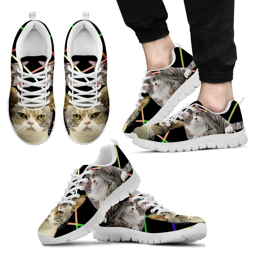 Small Dog Haus American Wirehair Cat Running Shoes for Men
