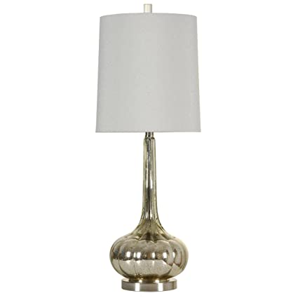 Genial Amazon.com: StyleCraft Glass Table Lamp, Mercury Silver/Brushed Steel: Home  U0026 Kitchen