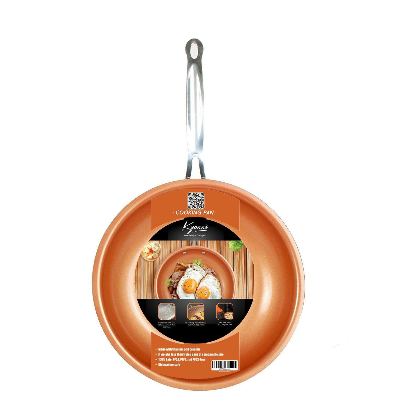 Sartén de Aluminio, Cobre Sartenes Master Copper, Antiadherentes con revestimiento de cerámica , para Todo Tipo de cocinas Incluido Inducción (24 cm): ...