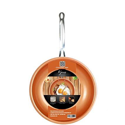 Sartén de Aluminio, Cobre Sartenes Master Copper, Antiadherentes con revestimiento de cerámica , para Todo Tipo de cocinas Incluido Inducción (24 cm)