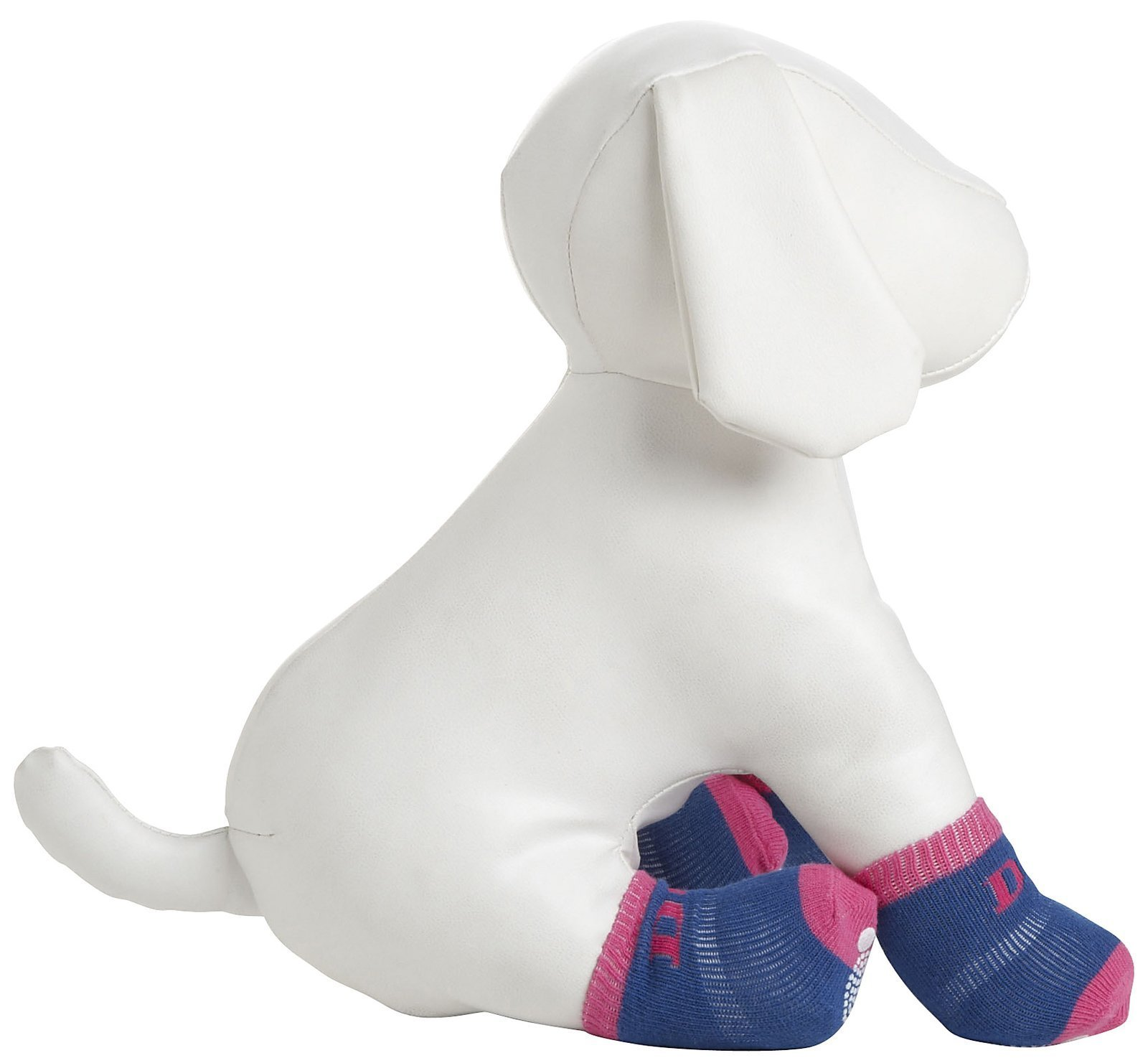 Pet Life DPF09912 4-Pack Anti-Skid Soft Cotton Dog Socks with Rubber Sole Grip, X-Small/Small, Pink/Blue