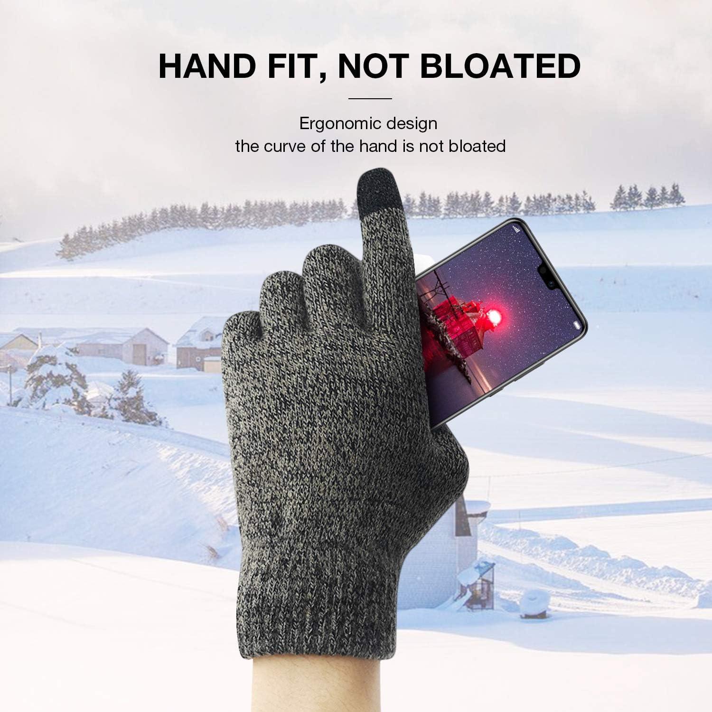 Pour Femmes Hommes Garder au chaud PHYLES Hiver Gants Tricot/és /Écran Tactile Antid/érapant