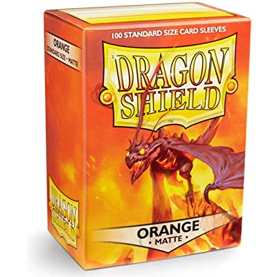 Arcane Tinman Dragon Shield Sleeves - Matte Orange Card Sleeves: Toys & Games