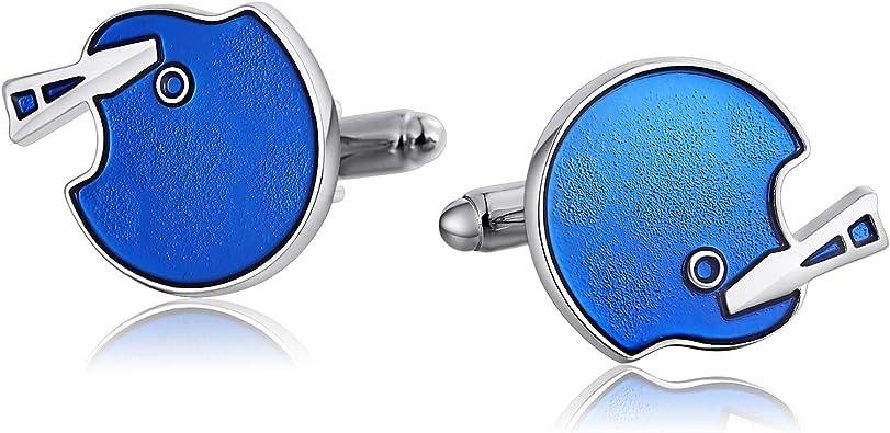 ROMQUEEN Gemelos Camisa Negro Gemelos de Forma Irregular Linda Gemelos Camisa Hombre Boda Gemelos Acero Inoxidable Personalizados Gemelos Camisa Azul: Amazon.es: Joyería