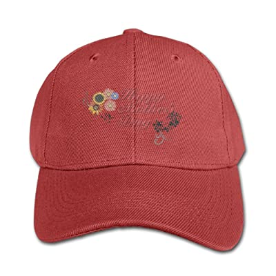 Happy Mother's Day Unisex Print 100% Cotton Snapback Hip-Hop Hat Flat Peaked Baseball Cap Adjustable Cap Hat for Boy &Girl Navy
