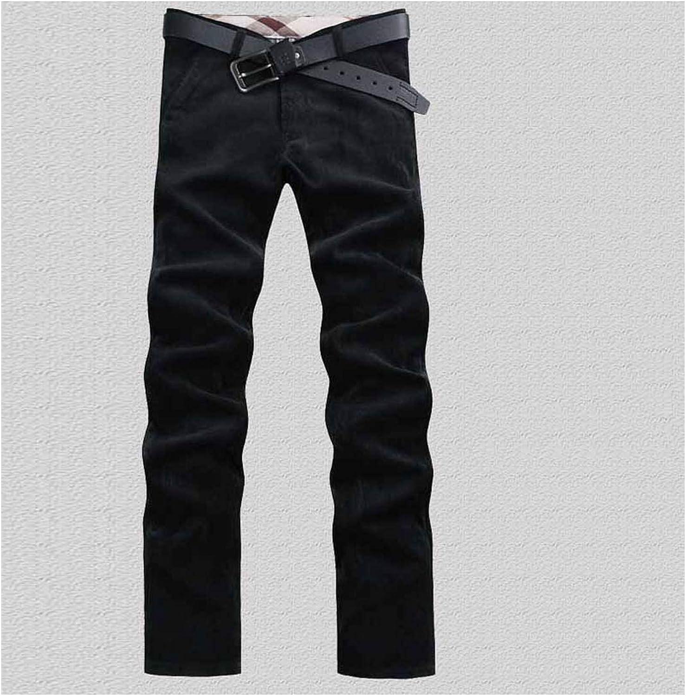 Autumn Men/'s Trousers loose Comfy Cotton Warm dress Corduroy Casual Pants New @@