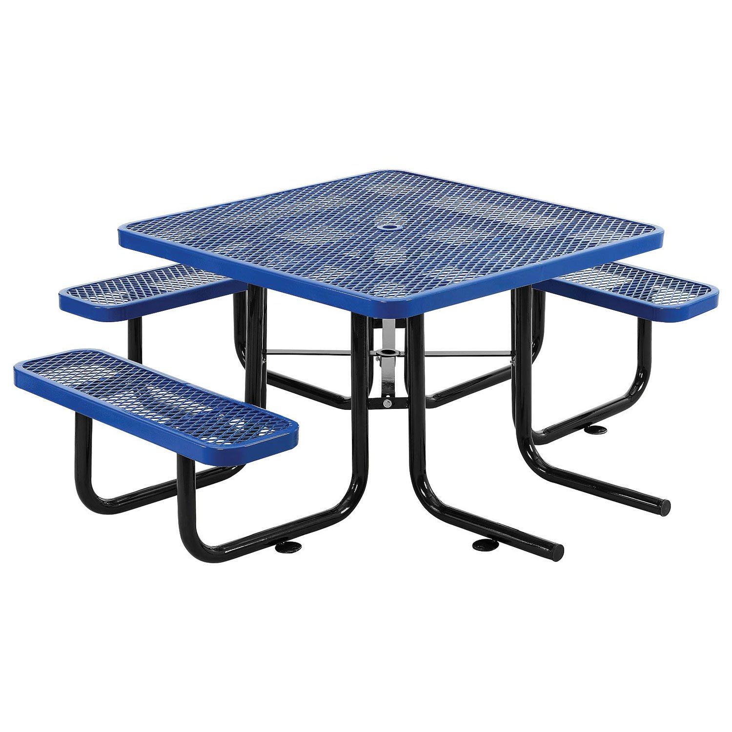 46 ADA Square Picnic Table, Surface Mount, Blue