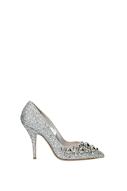 34fea1adeb52 Miu Miu Pumps Women - Glitter (5I242BGLITTERARGENTO) 5 UK  Amazon.co.uk   Shoes   Bags