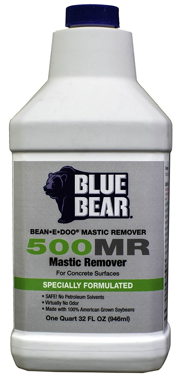 BLUE BEAR 500MR Mastic Remover For Concrete Quart BBIM1QT