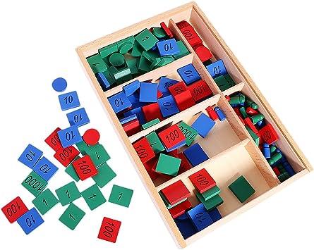 B Blesiya Montessori Sellos Juego Juguetes Niños Matemáticas Aprendizaje Ambiente Acogedor Cálido: Amazon.es: Juguetes y juegos
