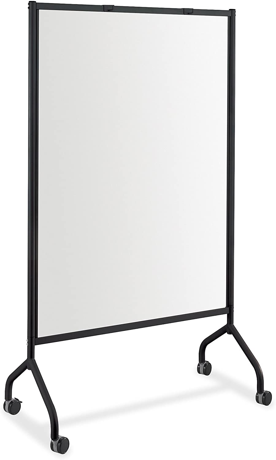 "Safco Products Impromptu Mobile Full Whiteboard Screen Double-sided Magnetic Dry Erase Board, Commercial-Grade Steel Frame, Swivel Wheels, Accessory Shelf, 42""W x 72""H, Black"