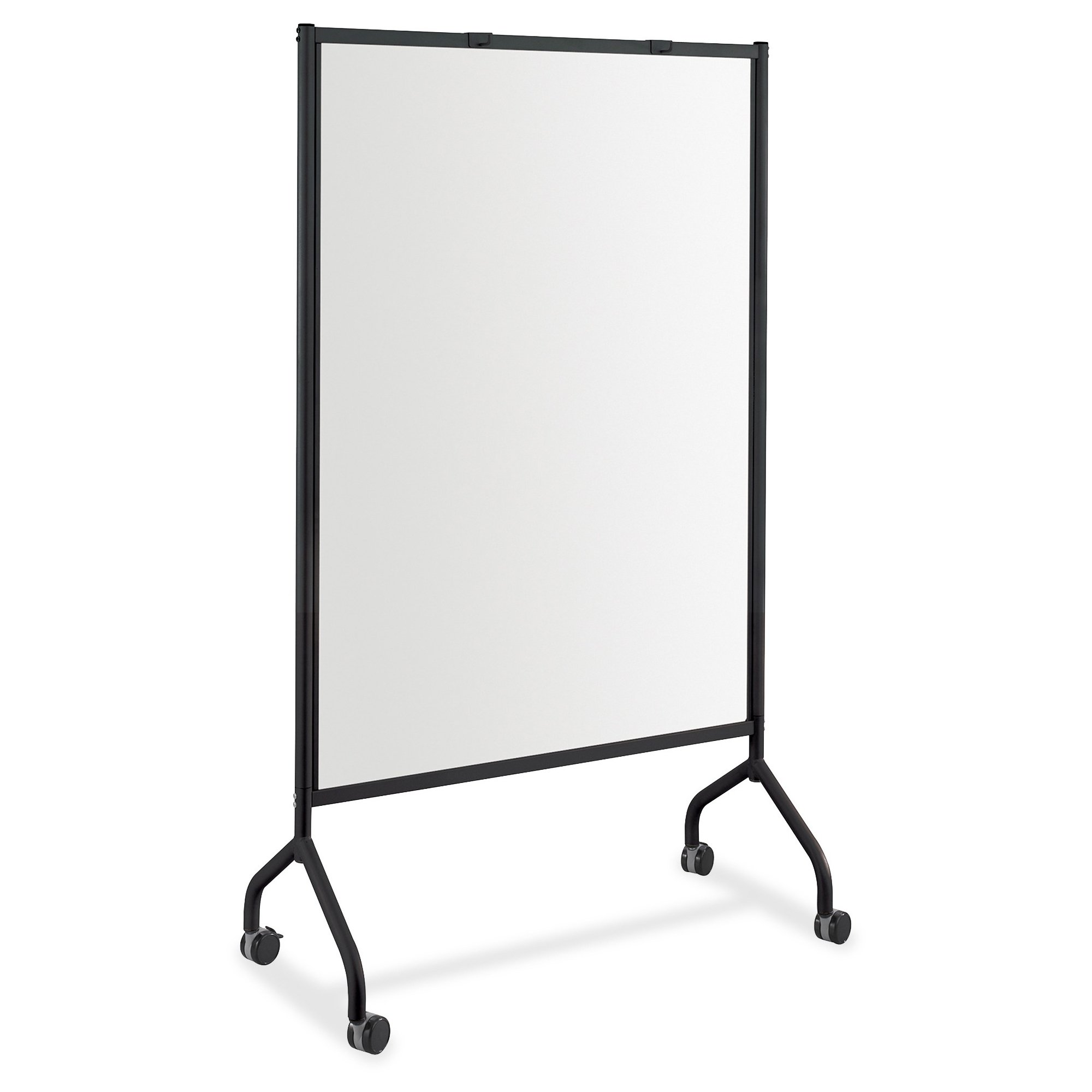 Safco Products 8511BL Impromptu Full Whiteboard Screen, 42''W x 21 1/2''D x 72''H, Black