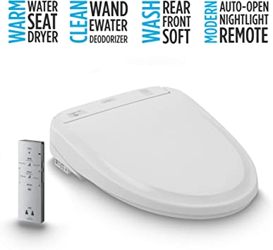 Toto Sw583 01 S350e Electronic Bidet Toilet Seat With Cleansing Warm Nightlight Auto Open And Close Lid Instantaneous Water Heating And Ewater Round Cotton White Amazon Com