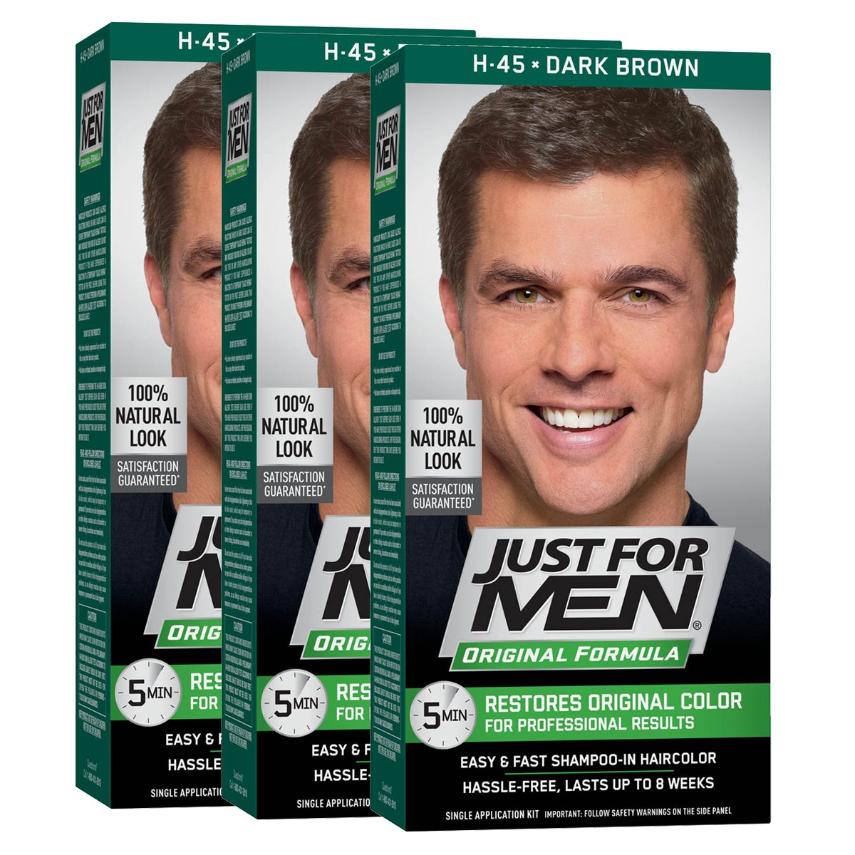 Buy Just For Men Shampoo In Hair Color Dark Brown H 45 1 Application