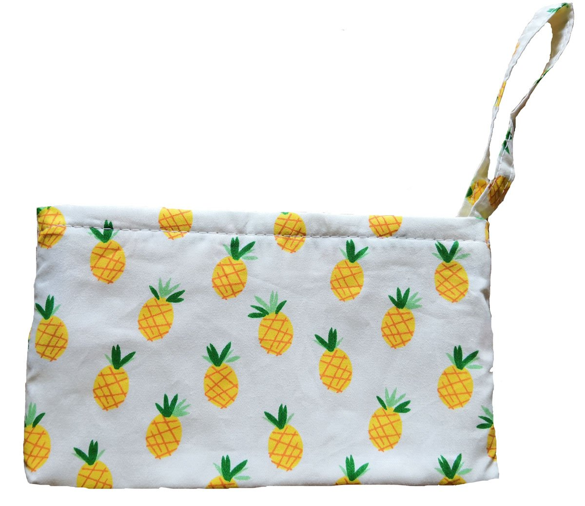 Women's Canvas Tote Shoulder Bag Stylish Shopping Casual Bag Foldaway Travel Bag (R-coin purse-Pineapple print)