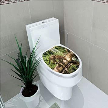 Amazon com : Toilet Sticker 3D Print Design, Safari Decor
