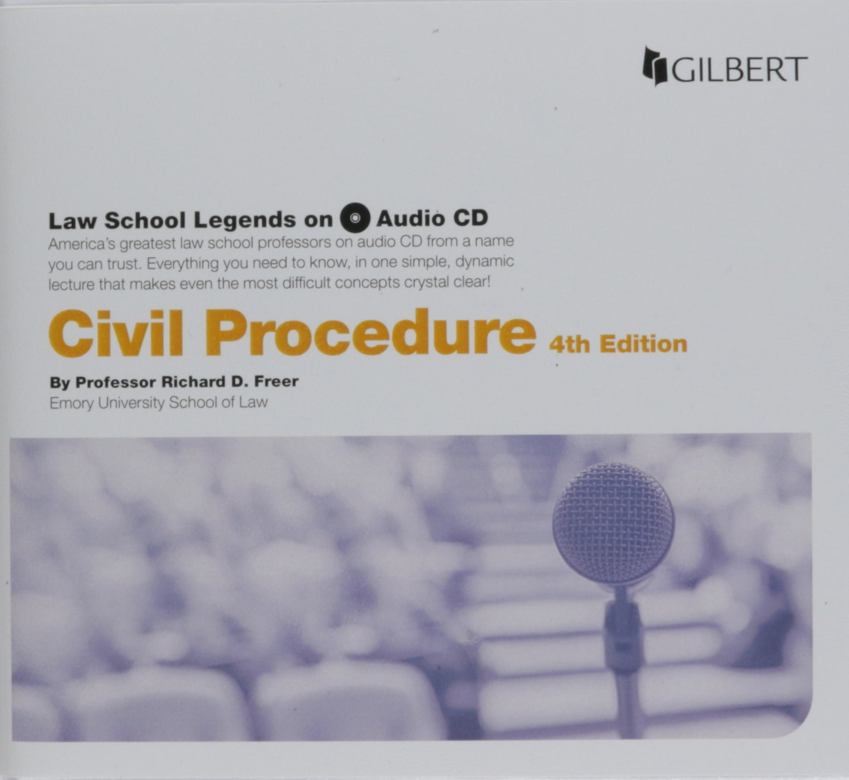 Law School Legends Audio on Civil Procedure (Law School Legends Audio Series) by Gilbert