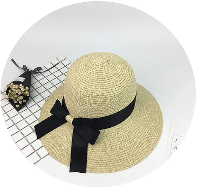 4e6f2445cdd 2018 New Straw Hat Summer Ladies Bow Visor Korea Outdoor Sun Hat Folding Hat
