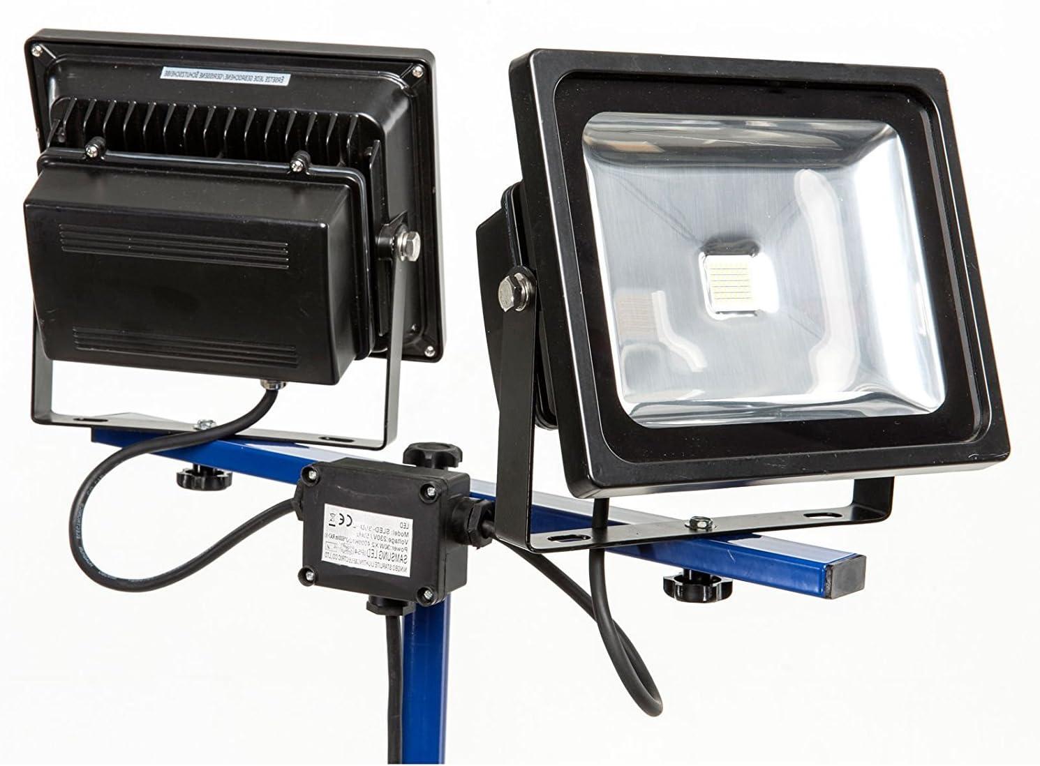MCTECH/® 50-150cm GelbTeleskop Stativ Flutlicht St/änder Strahler Stahlstativ f/ür Baustrahler LED Fluter Arbeitslampe