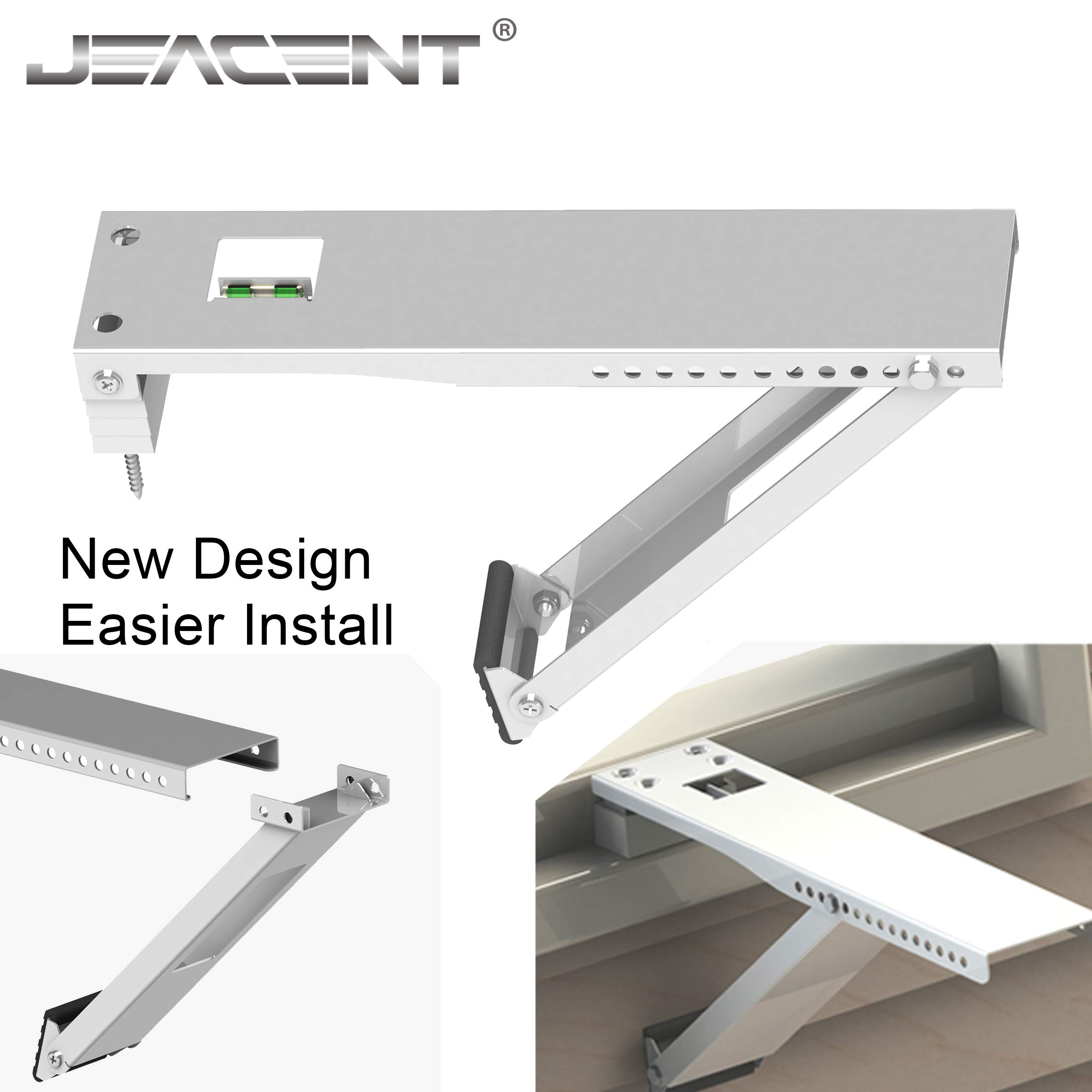 Jeacent Universal AC Window Bracket, Air Conditioner Support Bracket Heavy Duty, Up to 85 lbs - 13.5 inches Arm for Small A/C Units