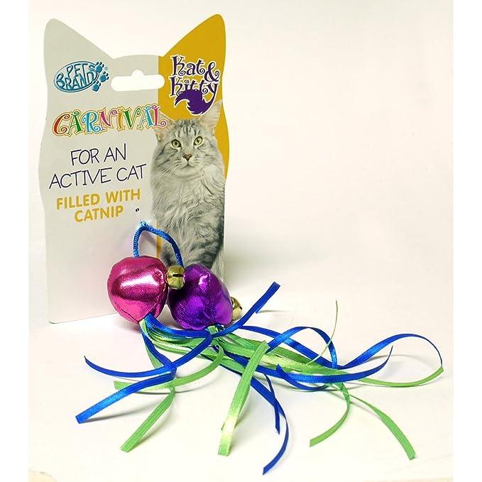 Pet Brands - Dos pelotas de hierba gatuna para gatos (Talla Única/Multicolor)