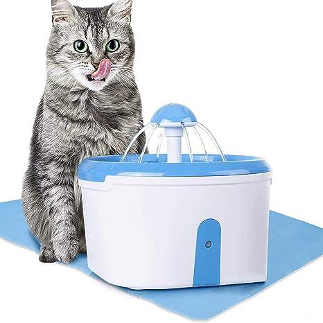 Cikuso Fuente Cat - Beber Mascota Limpiador de Filtro de Carbón Activo - Sensor Automático de