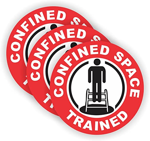Confined Space Trained /& Certified Hard Hat Sticker//Helmet Decal Label Lunch Tool Box